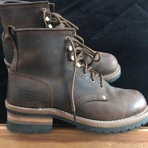 Skechers boots, Leather Upper, men size 8.5
